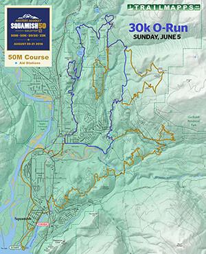Squamish 50 30k O-Run Map