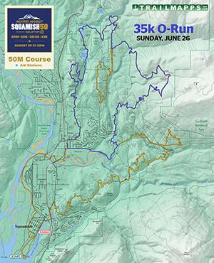 Squamish 50 35k O-Run Map