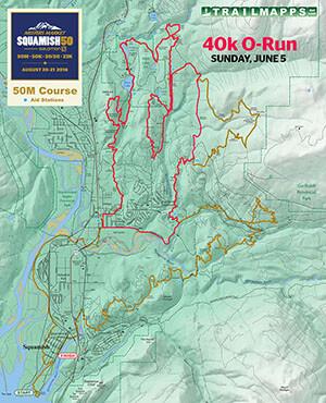 Squamish 50 40k O-Run Map