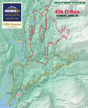 Squamish 50 45k O-Run Map