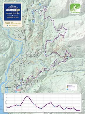 Squamish 50K map