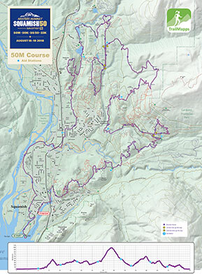 Squamish 50M map